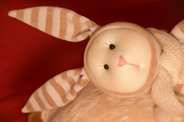 sad toy rabbit