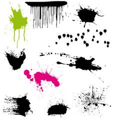 Vector pack of splatters