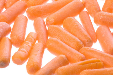 Baby Carrots Isolated