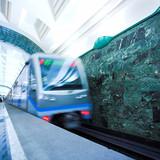 Fototapeta Podziemny - Metro - Stacja Kolejowa