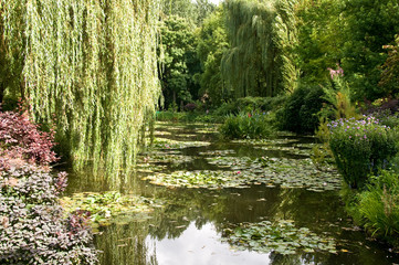 Gardens of Claude Monet in Giverny, France