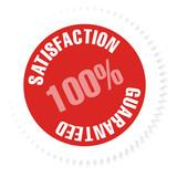 sticker vecteur série - satisfaction 100 % guaranteed poster