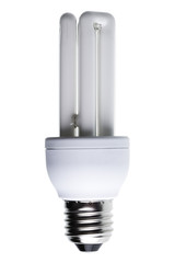 Energy Saving Lightbulb isolated against white