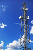Tower of telecommunications. poster