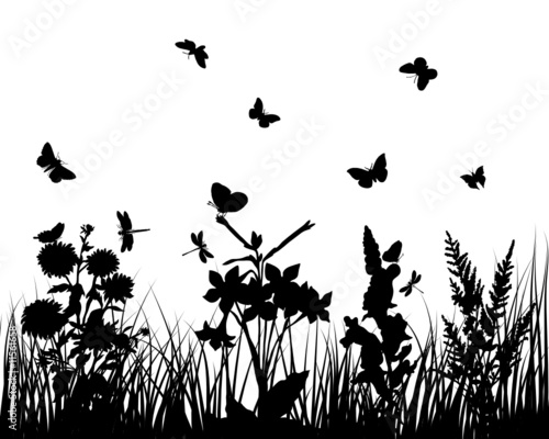 Naklejka grass silhouette