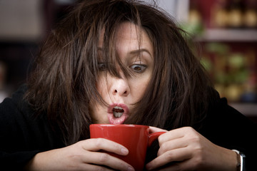 Coffee-Crazed Woman
