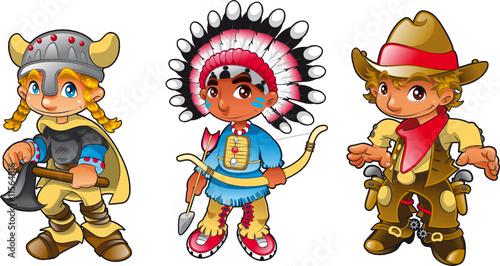 Fotobehang Indiërs Historical characters - 1