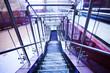 Empty violet corridor