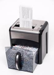open paper shredder