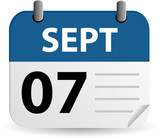 Labor Day Calendar poster