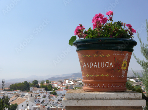 Andalusia - flowers, white town and summer