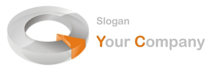 Company 3d logo orange