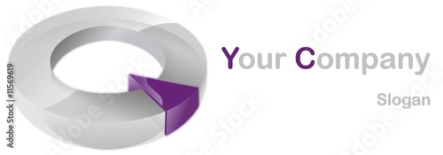 Company 3d logo purple