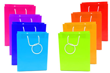 Colourful gift bags