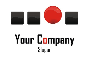 Red sphere Company Logo