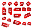 Big collection of vector sticky price labels for marketing.