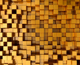Fototapety gold blocks