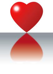 cuore riflesso fondo