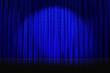 rideaux bleus étoilés