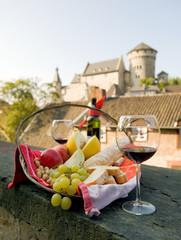 Früchte und Wein