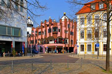 Hundertwasserhaus Magdeburg, grüne Zitadelle