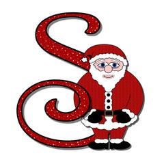 Yuletide Alphabet - S (is for Santa)