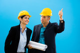 Architects in hardhat poster