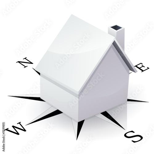 Maison blanche et orientation reflet de onidji fichier for Maison et reflet lyon