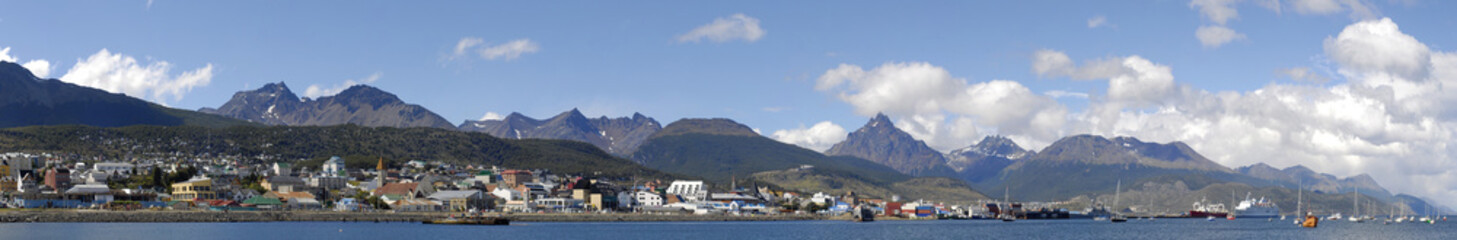 Panoramic View of Ushuaia, The Southermost City in the World