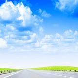 car road under beautiful year sky poster