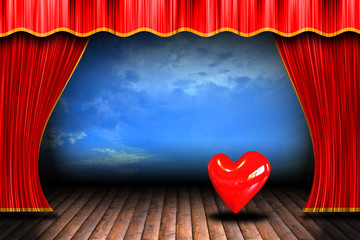 heart on stage