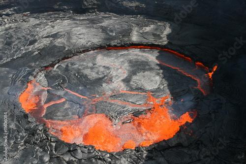 Lavasse im Erta Ale Vulkan, Danakil Wüste, Äthiopien