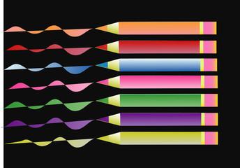 Crayons de couleurs (horizontal)