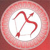 Fototapety Element fire: sagittarius zodiac sign on a mosaic