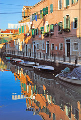 Italy, Venice canal in Arsenale quarter