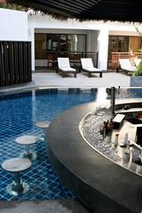 Swimming pool bar