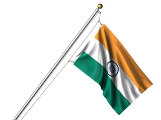 Isolated Indian Flag