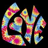 Fototapety Tie Dyed Love Symbol