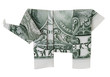 One dollar origami elephant