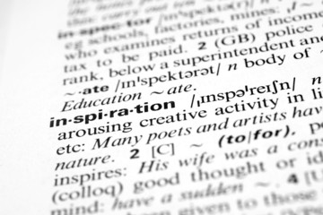 Inspiration - Dictionary definition of business word
