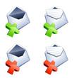 courrier et icônes annulation