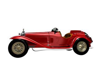 Auto d'epoca rossa sportiva