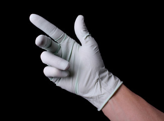 Hand in medical glove