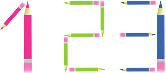 1 2 3 crayons