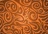 Floraler Hintergrund, orange, braun poster