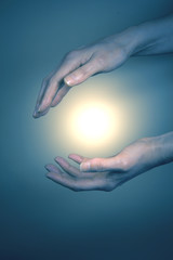 Reiki healing hands and energy
