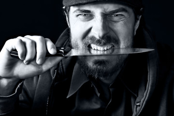 Tough guy with knife