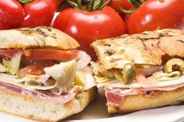 gourmet ham italian sandwich