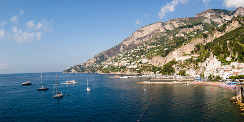 Panoramic of bay and village  Amalfi