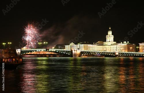 Firework in Saint Petersburg